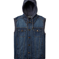Heathered Hood Denim V