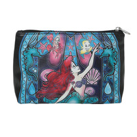 Disney The Little Mermaid Ariel Stained Glass Cosmetic Bag