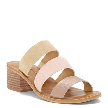 Lucky Brand Rileigh2 Multi Color Suede Block Heel Sandals | Dillards