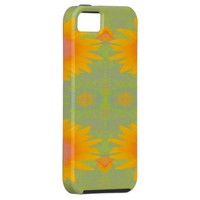 Sunflower Art on Green iPhone 5 Case