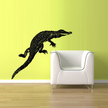 rvz1558 Wall Vinyl Sticker Decals Decor Alligator Crocodile Croc Thailand