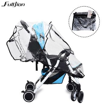 Baby Stroller Accessories Trolley Rain Covers For Wheel Strollers Protect Cart Prams Waterproof Universal Baby Travel Windshield