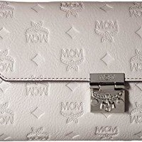 MCM Womens Millie Monogrammed Leather Small Crossbody