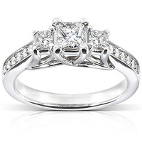 Diamond-Me Diamond Engagement Ring 5/8 carat (ct.tw) in 14k White Gold
