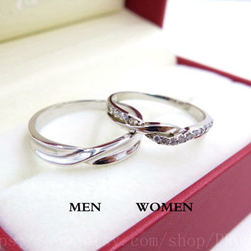 shop engraved promise rings for couples on wanelo