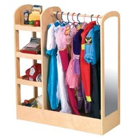 Guidecraft See and Store Dress Up Center - Natural