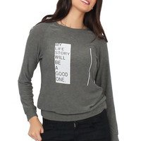Good hYOUman My Life Story Sweatshirt
