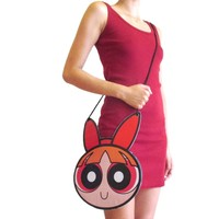 Powerpuff Girl Blossom Shaped Vinyl Print Cross Body Bag | DOTOLY