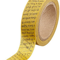 DARICE 1217-103 Washi Tape Roll, 5/8 by 315-Inch, Newspaper