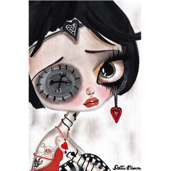Girly Rude Art Print by Artist Dottie Gleason