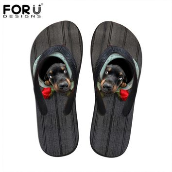 2017 Fashion Men's Flip Flops Funny 3D Animal Dog Printed Shoes Men Summer Beach Sandals Male Leisure Slippers Sapatos Masculino