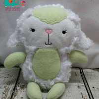 Stuffed lamb super soft perfect for Easter embroidered, sheep, basket, stuffie, plush, stuffed animal, kids, children, stuffed toy snuggle