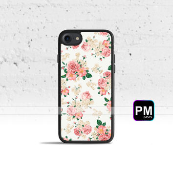 Pink Carnations Floral  Case Cover for Apple iPhone 7 6s 6 SE 5s 5 5c 4s 4 Plus & iPod Touch