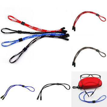 Sport Eyeglass Sunglasses Cotton Neck String Cord Retainer Strap Eyewear Lanyard Holder 4 Colors Rope Chain Out Accessoires