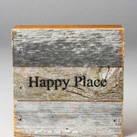 Happy Place Wood Plaque