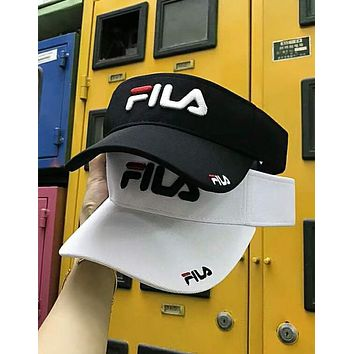FILA 2018 summer tide brand fashion three-dimensional embroidery empty top hat F-Great Me Store