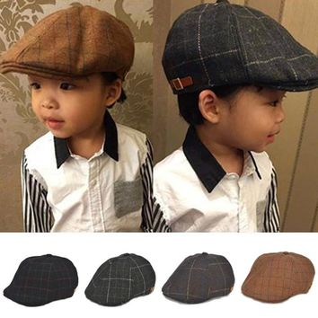 Baby boy hats striped beret newborn photography props spring new arrived baby cap photo props 1-3 years