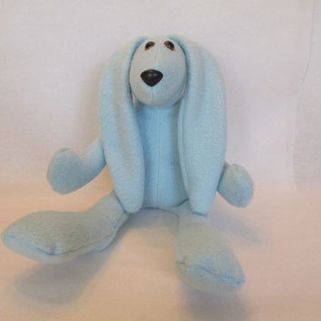 Personalized Easter Bunny , Stuffed Bunny , Blue Bunny , Boy Rabbit