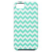 Noble Chevron Mint Gren And White iPhone 5 Cases from Zazzle.com