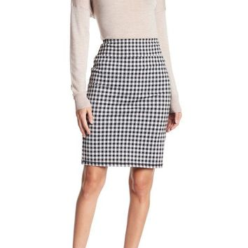 DCCKHB3 14th & Union | Gingham Ponte Skirt (Regular & Petite)