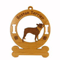 1923 Boston Terrier Standing Ornament Personalized with Your Dog's Name