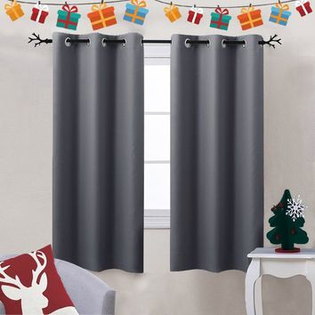 17 Colors Thermal Insulated Grommet Top Blackout Curtains by Nicetown (2 Panels)