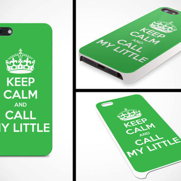 iPhone 5 Cell Phone Case Keep Calm and Call My Big Sorority Sister Big Little Grand Greek Apple Protective White Plastic Hard Cover VM-1051