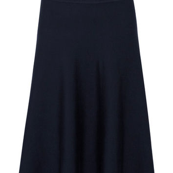 The Row - Alessia stretch wool-blend midi skirt
