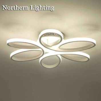New modern led ceiling chandelier light for living room bedroom Indoor acrylic Ceiling Chandeliers lighting fixtures lustre