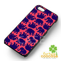 Lily Pulitzer Elephant Pattern-N41yh for iPhone 6S case, iPhone 5s case, iPhone 6 case, iPhone 4S, Samsung S6 Edge
