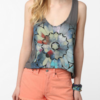 Truly Madly Deeply Rose Window Cropped Tank