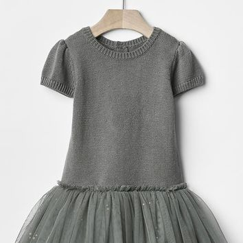 Gap Sparkle Mix Fabric Tutu Dress