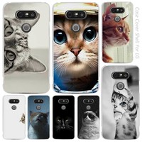 Curious Cat Sneaking Up Clear Cell Phone Case Cover Shell for LG K3 K4 K8 K10 G3 G4 G5 G6 2017 V10 V20 K5 stylus3