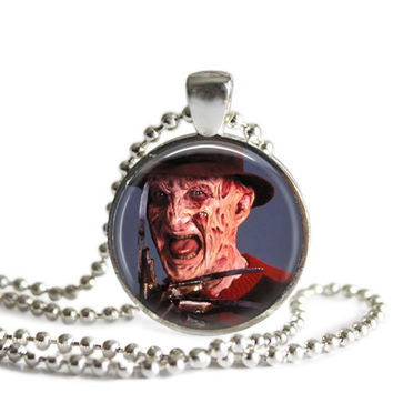 Freddy Krueger Nightmare on Elm Street Picture Pendant Necklace