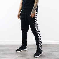 Brantley Checkered Pants (Black)