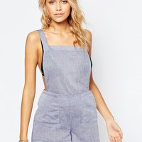 ASOS Chambray Dungaree Beach Playsuit
