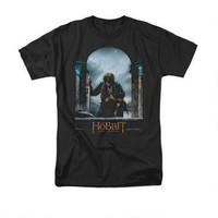 The Hobbit: The Battle of the Five Armies Bilbo Theatrical Poster Adult Black T-shirt |