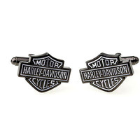 Mens Cuflinks, Novelty Black Harley-Davidson Motorcycle Cufflinks for men with Free Gift Box