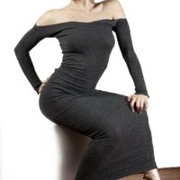 Chocolate Medium Elegant Ankle Length Sexy Sweater Cocktail Party Dress @KDdanceNewYork Stretch Knit Luxurious & Warm #MadeInUSA & So so so Sexy!