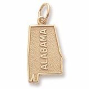 Alabama Charm in Yellow Gold Plated