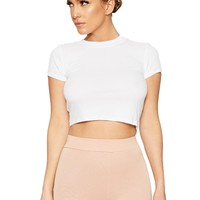 My Cup Of Ribbed T Crop - New Arrivals