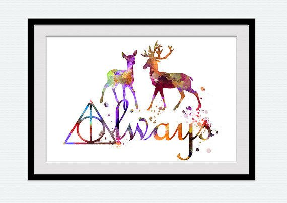Harry Potter Watercolor Poster Always From Colorfulprint