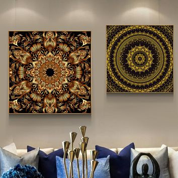Tibet Thangka Buddha Spiritual Abstract HD Canvas Painting Posters And Prints Unique Home Decor Wall Art For Living Room ZY052
