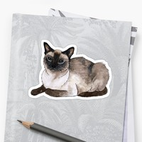 'Siamese cat' Sticker by savousepate