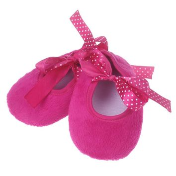 Baby Solid Pink Newborn Cloth Baby Girls Shoes