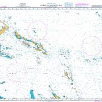 British Admiralty Nautical Chart 4604: South Pacific Ocean, Coral and Solomon Seas and Adjacent Seas