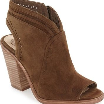 Vince Camuto 'Koral' Perforated Open Toe Bootie (Women) (Nordstrom Exclusive) | Nordstrom