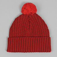 universal works - merino bobble hat raisin
