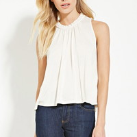 Contemporary High-Neck Top
