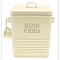Cream Bird Feed Holder